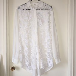 Lace shirt blouse shell